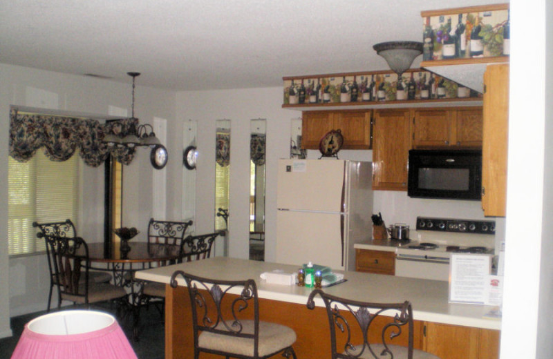 Kitchen at Dogwood Hills at Alpine Bay.