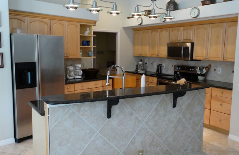 Rental kitchen at Realty Group Southwest Florida.