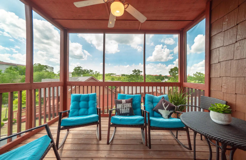Cabin deck at Thousand Hills Vacations.