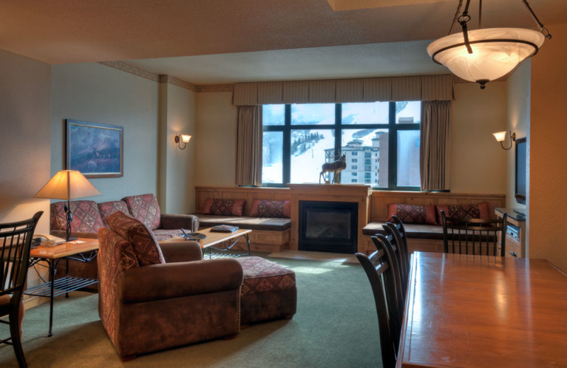 Condominium living room at The Steamboat Grand.