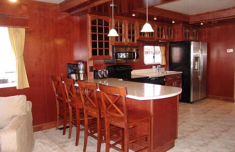 The 75' Platinum houseboat kitchen at Antelope Point.