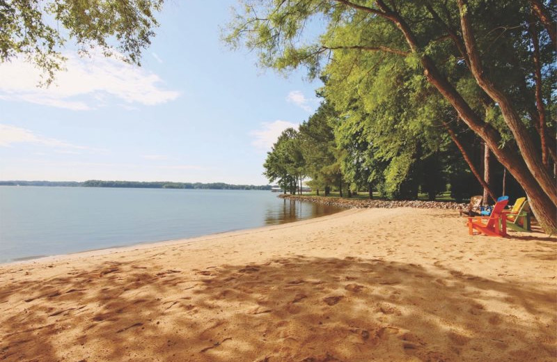 Rental beach at StayLakeNorman Luxury Vacation Rentals.