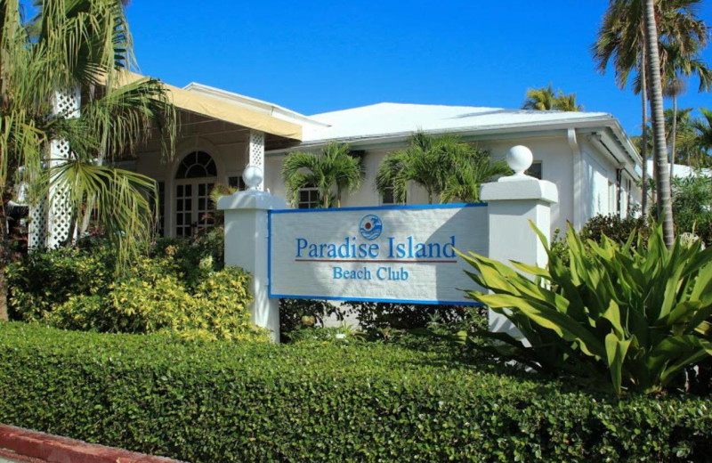 Exterior view of Paradise Island Beach Club.