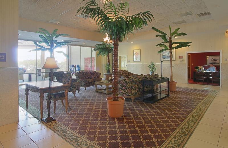 Hotel lobby at Grand Hotel & Spa.