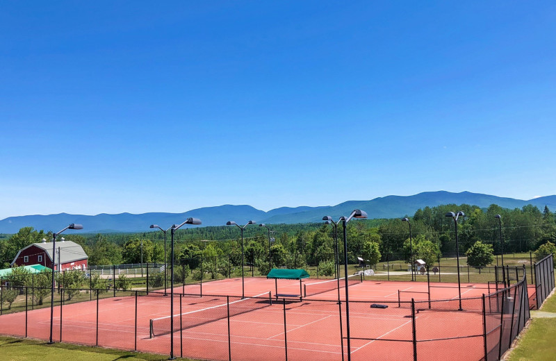 Tennis court at Mountain View Grand Resort & Spa.