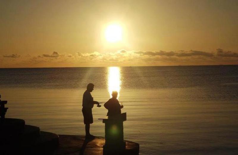 Fishing at Coral Bay Resort.