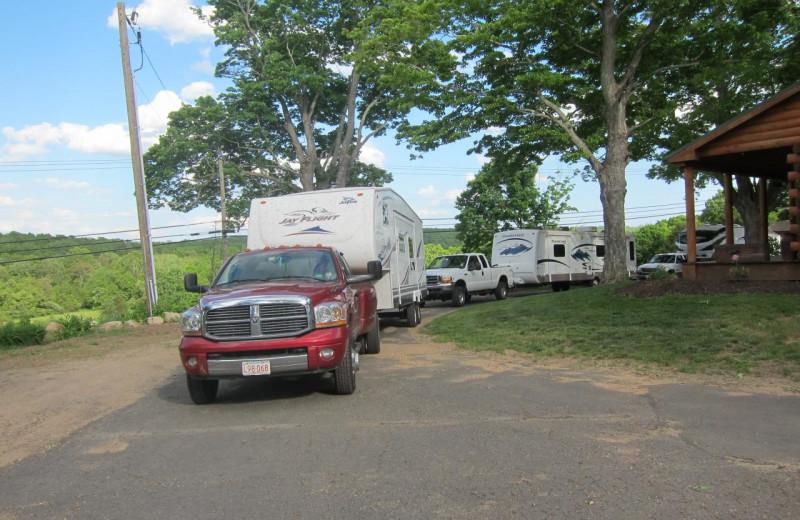 RVs at GrandView CampResort & Cottages.