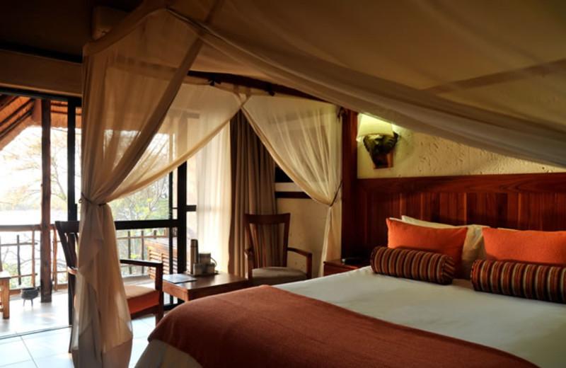 Guest room at Mowana Safari Lodge.