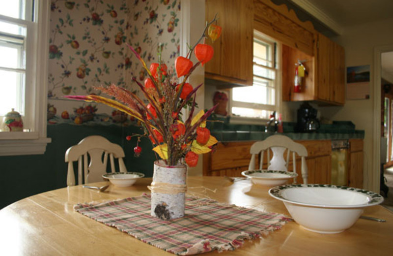 Cottage dining table at The Inn on Gitche Gumee.