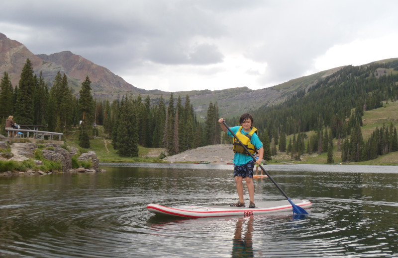 Paddle board at Three Rivers Resort & Outfitting.