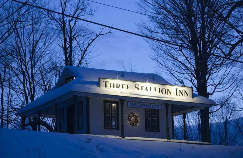 Winter time at Three Stallion Inn.