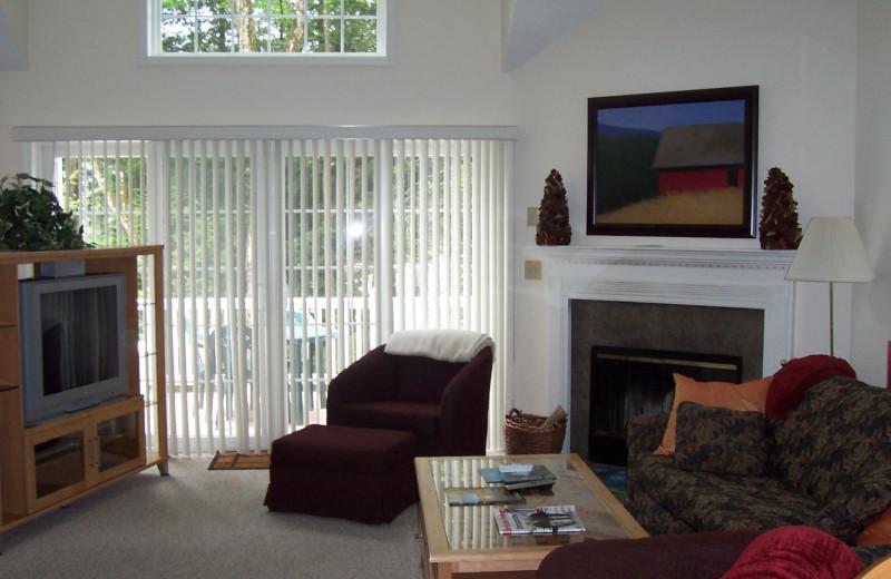 Guest living room at Jiminy Peak Mountain Resort.