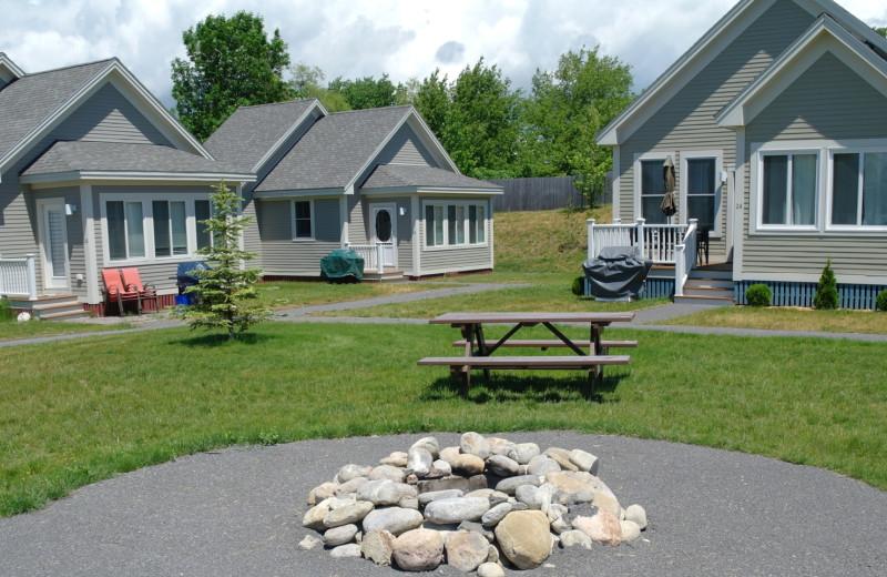 Cottage exterior at Sandbanks Summer Village Cottage Resort.