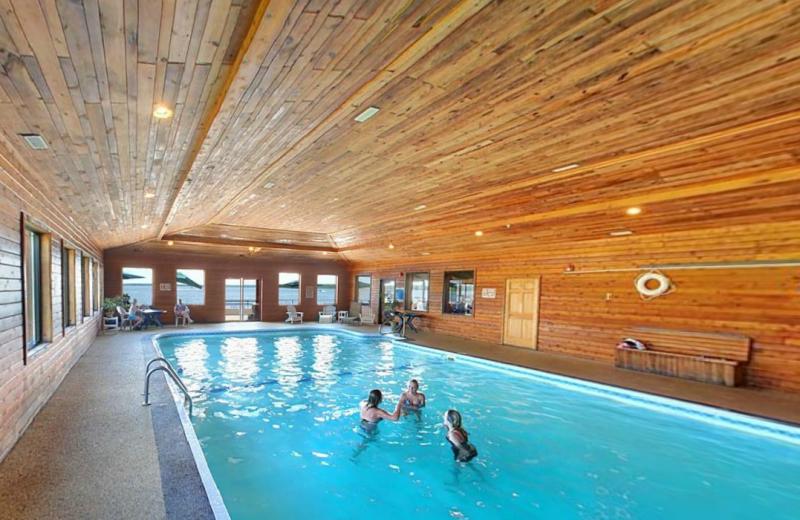 Indoor pool at Hiawatha Beach Resort.