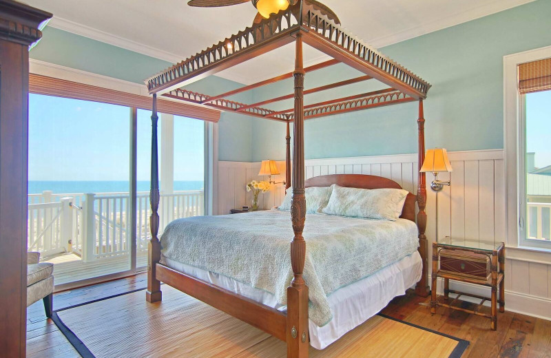 Rental bedroom at Resort Vacation Properties of St. George Island.