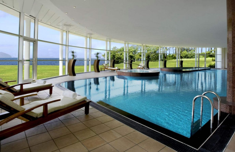Indoor pool at Turnberry Hotel.