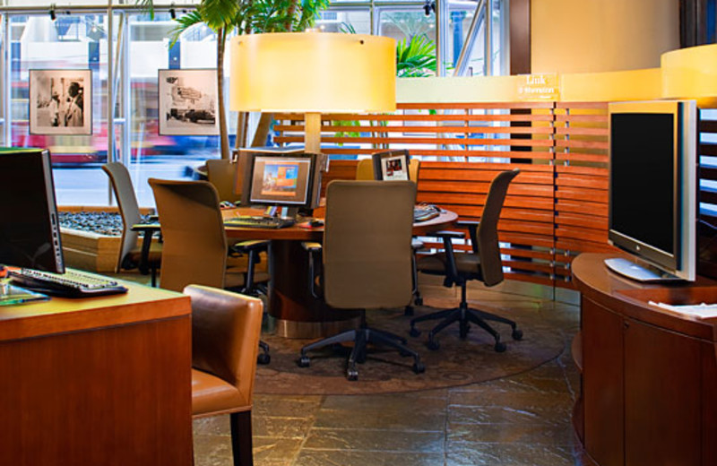 Computer Area at Sheraton New Orleans Hotel