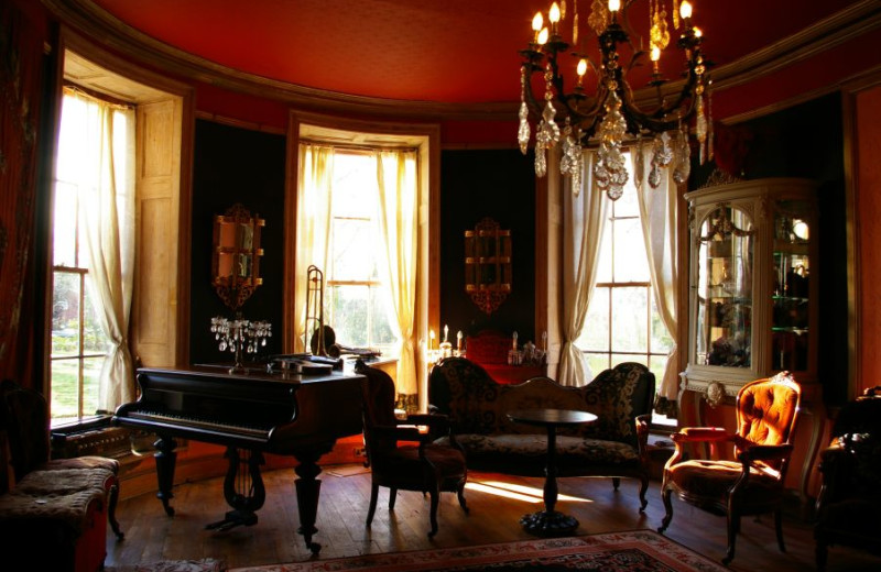 Drawing room at Priory House Hotel.