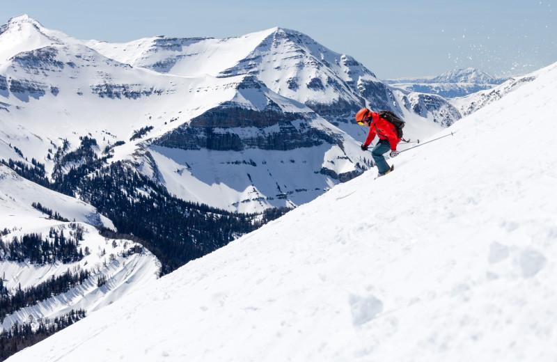 Skiing at Moonlight Rentals in Big Sky.