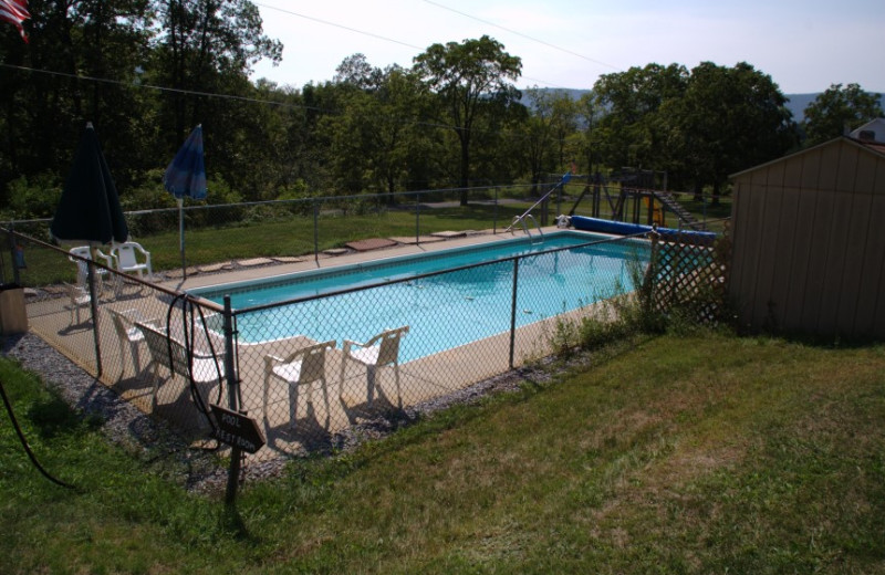 Outdoor pool at Lane's Pine Lodge.