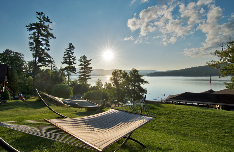 Hammocks at The Lodges at Cresthaven on Lake George.