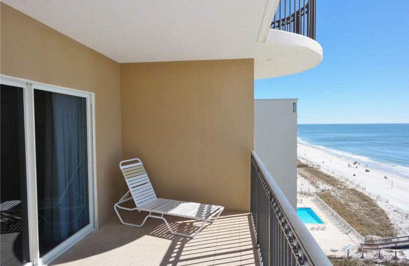 Rental balcony at Gulf Shores Rentals.
