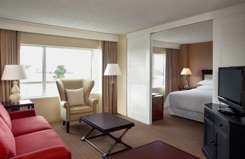 Guest suite at Sheraton Suites Plantation, Ft. Lauderdale West.