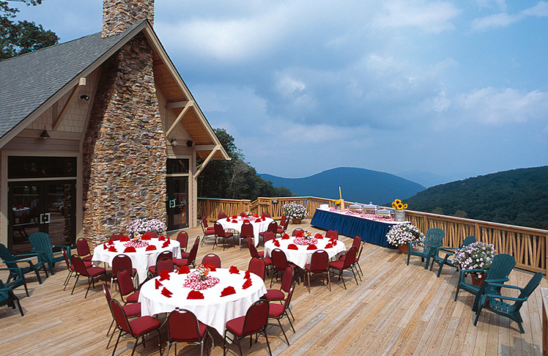 Wedding reception at Wintergreen Resort.