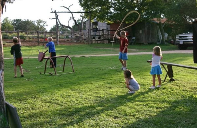 Lasso lessons at Twin Elm Ranch.