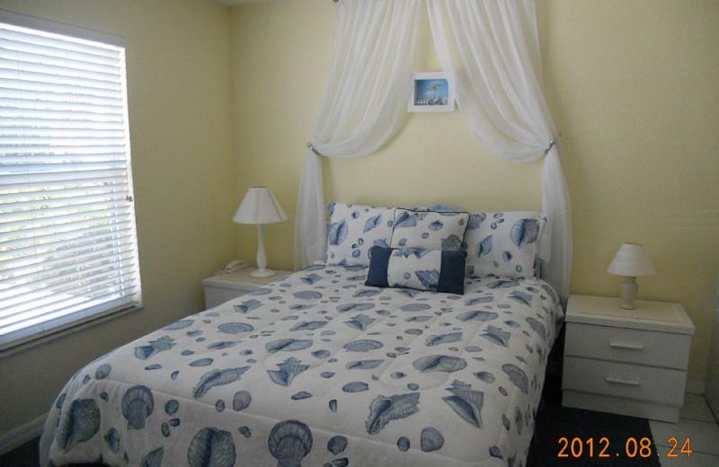 Rental bedroom at Alecassandra Vacation Villas.
