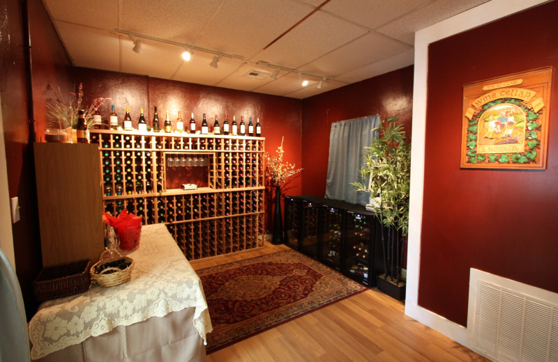 Wine cellar at First Class Bed & Breakfast.