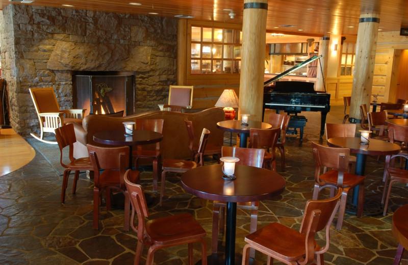 Fireside at The Heathman Lodge.
