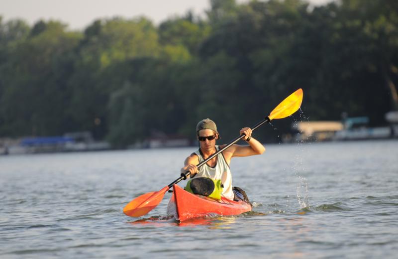 Kayaking at La Conner Channel Lodge.