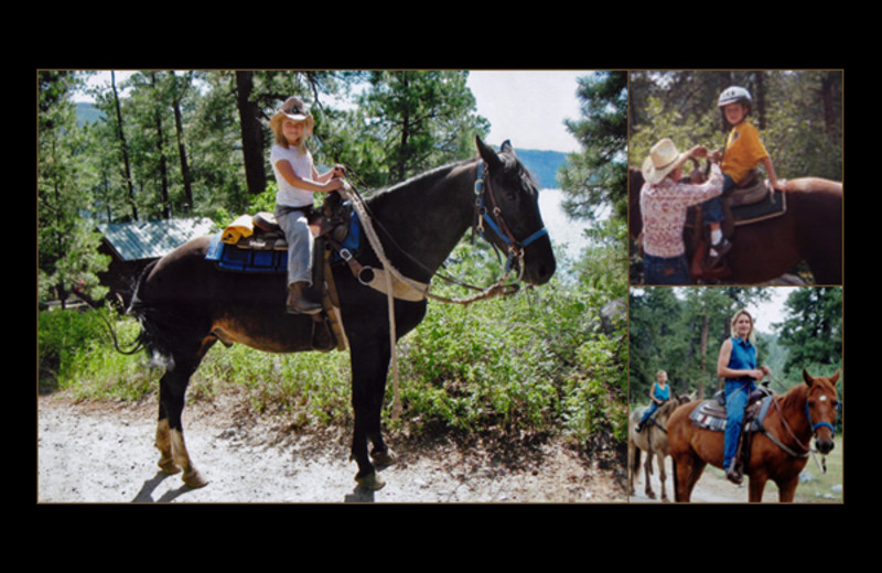 Horseback riding at Elk Point Lodge.