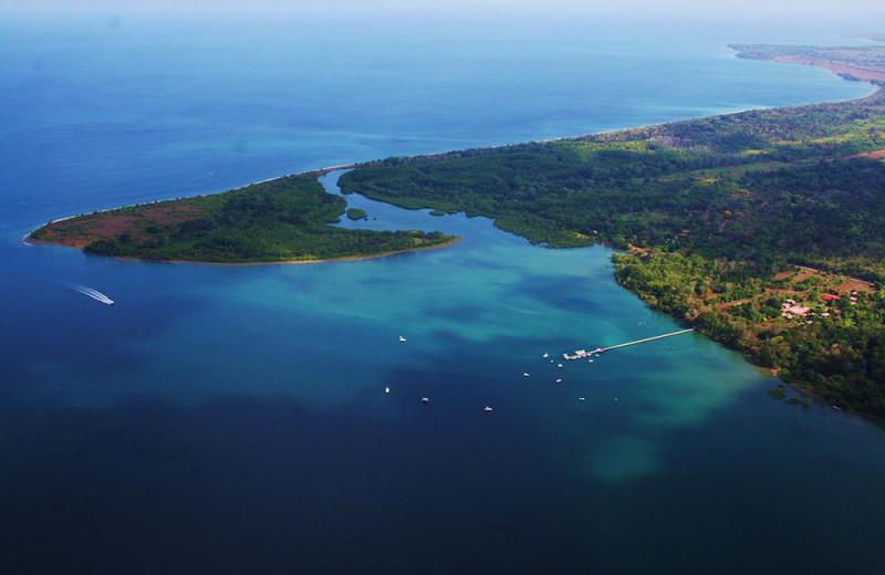 Aerial view of Crocodile Bay Lodge.