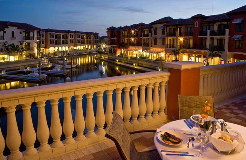 Balcony view at Naples Bay Resort.