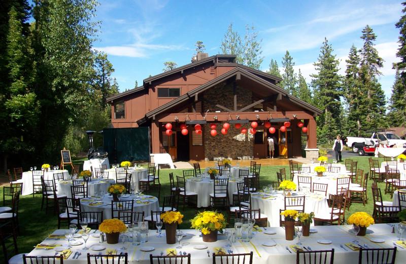 Wedding catering at Granlibakken Resort.