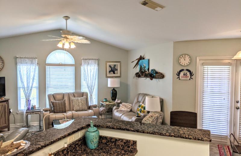Rental interior at Sunset Properties.