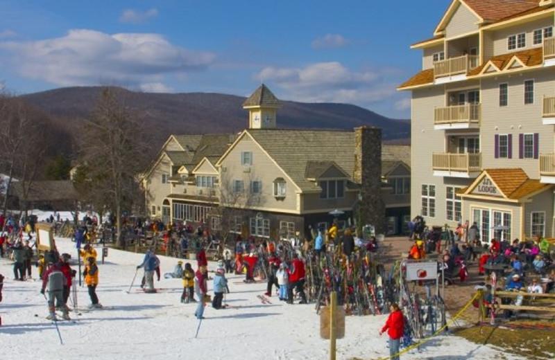 Skiing at Jiminy Peak Mountain Resort.
