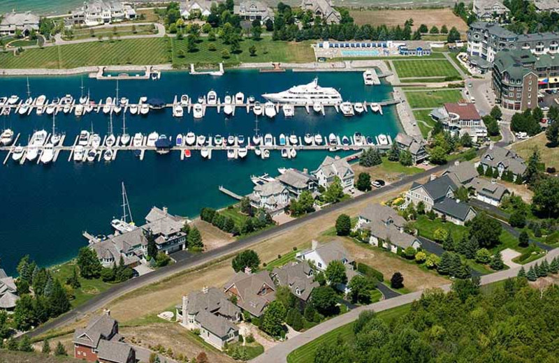 Aerial view of Bay Harbor Village Hotel & Conference Center.