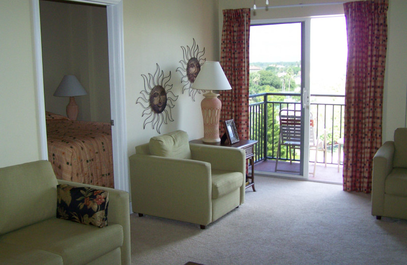Rental interior at Madeira Bay Resort.