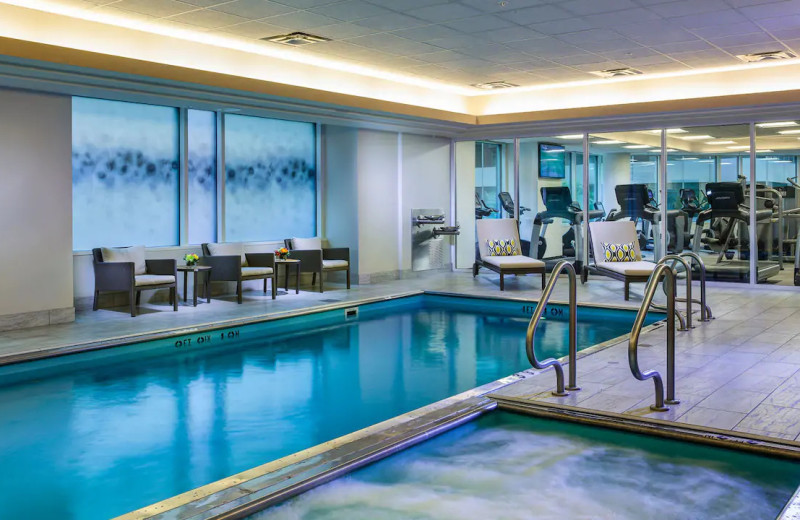 Indoor pool at Hyatt Centric Chicago Magnificent Mile.