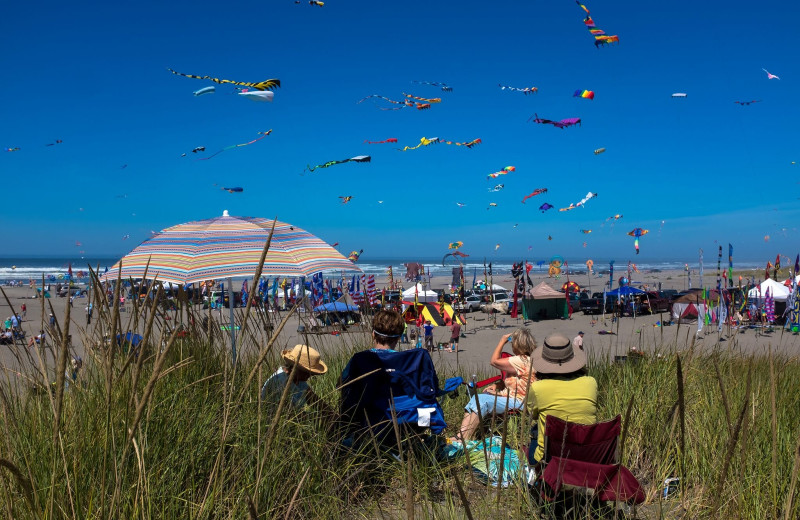Kites at Oceanfront Getaways.