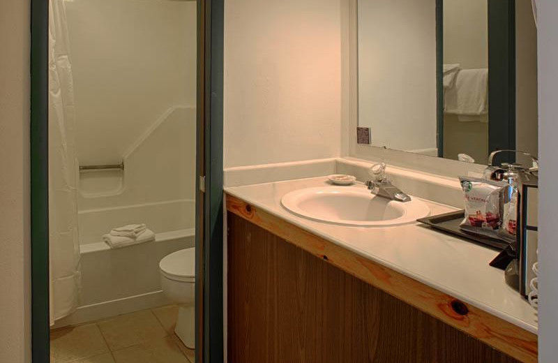 Guest bathroom at Grand Targhee Resort.