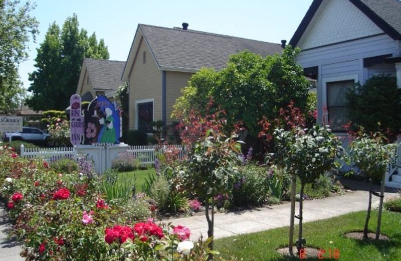 exterior view of magliulos rose garden inn - Rose Garden Inn