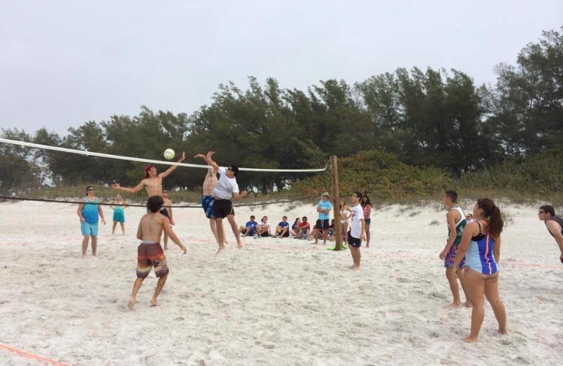 Beach volleyball at Sand Cay Beach Resort.