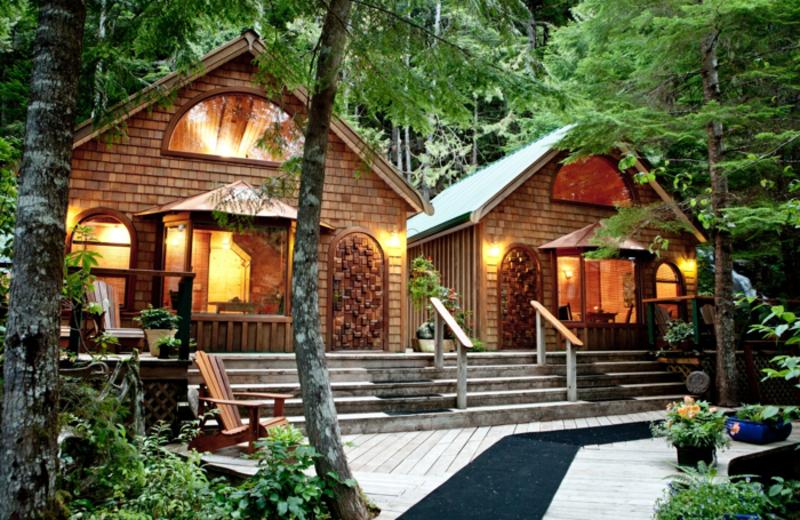 Resort view of Nimmo Bay Resort