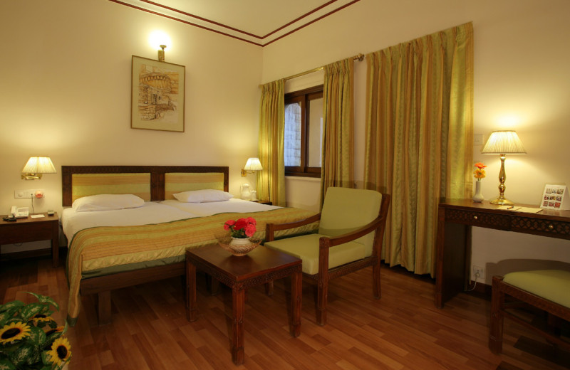 Guest room at Gorbandh Palace.