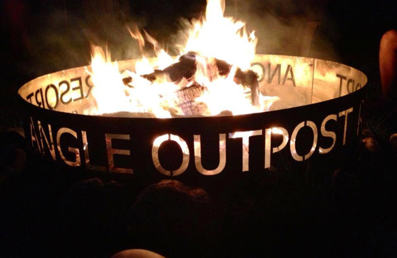 Bonfire at Angle Outpost Resort & Conference Center.