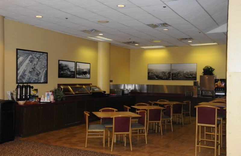 Complimentary breakfast served daily at The Suites Hotel at Waterfront Plaza.